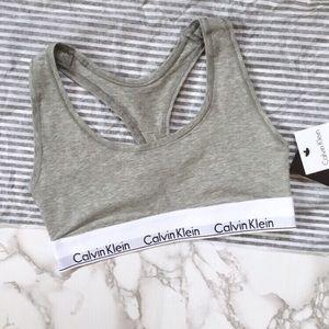 Calvin Klein Racerback Modern Cotton Logo Bra NWT